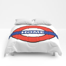 Underground Home Sign Comforters