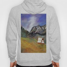 stormy sky above the mountains Hoody