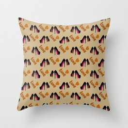 Put On Shoes Throw Pillow