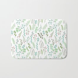 Small leaves print Badematte