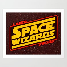 LASER SWORD SPACE WIZARDS Art Print