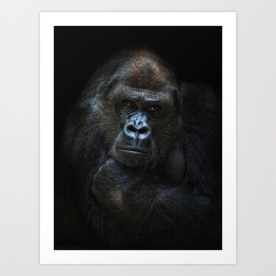 she-gorilla Art Print