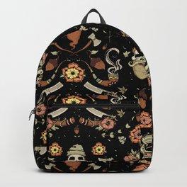 Black and Pink Lumberjack Woodsman Backpack