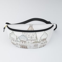Saint Basil's Cathedral (on white) Fanny Pack