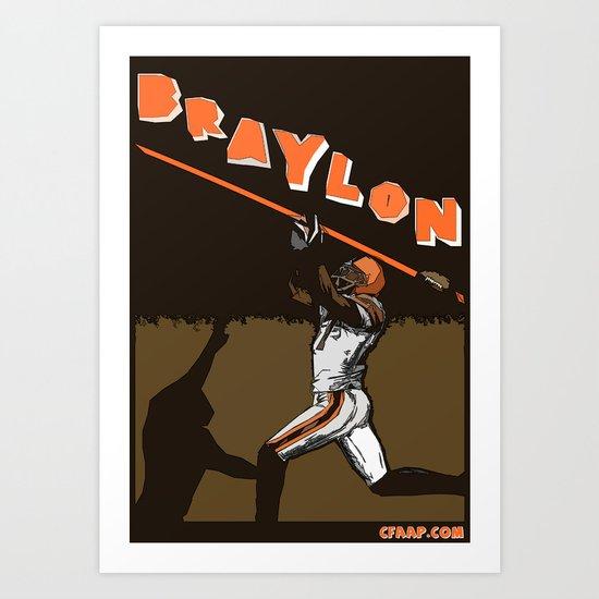 """Braylon Edwards """"Drop"""" Poster Art Print"""