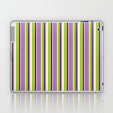 Fun Stripes purple green Laptop & iPad Skin