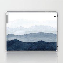 Indigo Abstract Watercolor Mountains Laptop & iPad Skin
