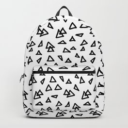 Modern geometric hand drawn minimalist black triangles pattern Backpack