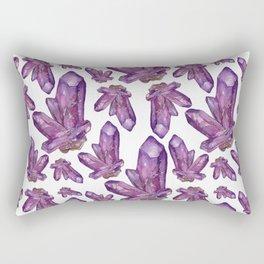 Amethyst Birthstone Watercolor Illustration Rectangular Pillow
