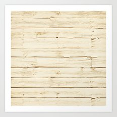 White Wood Art Print