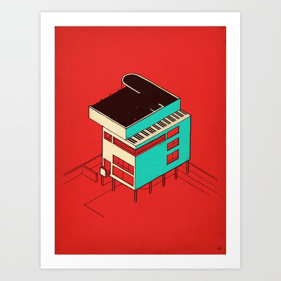 Music & Architecture Art Print