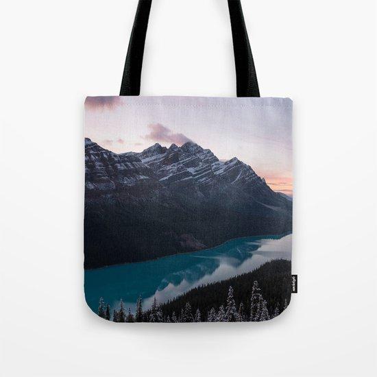 Peyto Lake at dusk Tote Bag