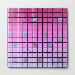 nope pink Metal Print
