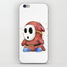 Shy Guy Watercolor Mario Art iPhone & iPod Skin