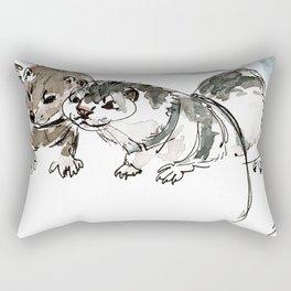 Two American minks Rectangular Pillow