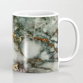 Gray Green Marble Glitter Gold Metallic Foil Style Coffee Mug