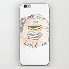 BOOKS & TEA iPhone & iPod Skin
