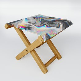 CONFUSION IN HER EYES THAT SAYS IT ALL Folding Stool
