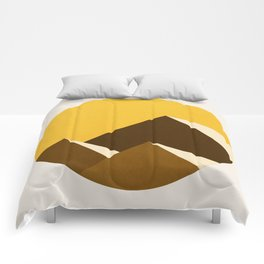 Abstraction_Mountains_YELLOW_001 Comforters