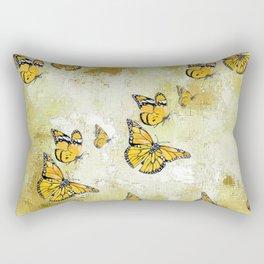 Adorable Butterflies, yellow Rectangular Pillow