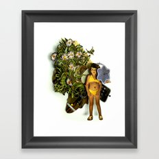 Lill princess | Collage Framed Art Print