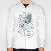 Beige tangle of joy and vibrant nature Hoody