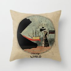 Sea monsters eat all travelers Throw Pillow