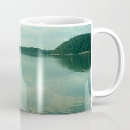 Mekong River Mountains Landscape Sky Reflection Water Coffee Mug