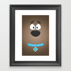 Minimal Scooby Framed Art Print