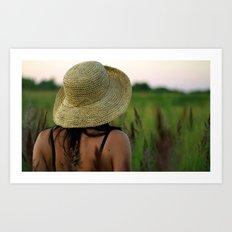 Girl's Summer Evening in Russia  Art Print