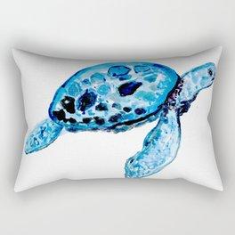 Sea Turtle, Watercolor Print, Turtle Art, Turtle Illustration, Sea,Turtle, Nursery Rectangular Pillow