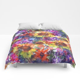 Rainy Day Sunflower Garden Comforters