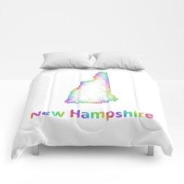 Rainbow New Hampshire map Comforters