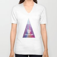 instagram V-neck T-shirts featuring Instagram moment by Oh! My darlink