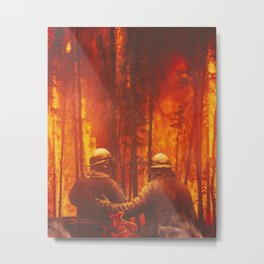 Firefighters Hero Metal Print