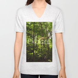 Forest // Silent In The Trees // Explore Unisex V-Neck