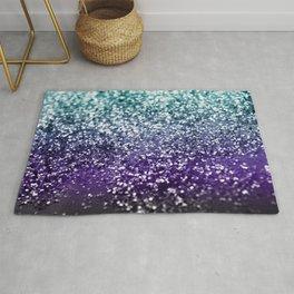 Aqua Purple Ombre Glitter #2 #decor #art #society6 Rug