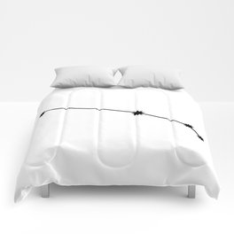 Aries Star Sign Black & White Comforters