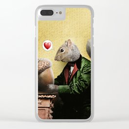 Mr. Squirrel Loves His Acorn! Clear iPhone Case