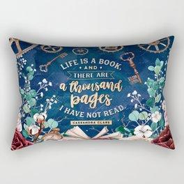 Life is a book Rectangular Pillow