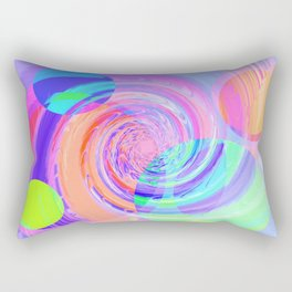 Re-Created Twisters No. 7 by Robert S. Lee Rectangular Pillow