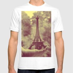 holding the tower Mens Fitted Tee White MEDIUM