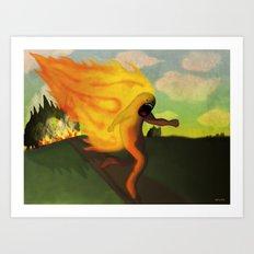Corriendo Art Print