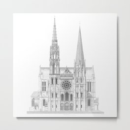 Cathedrale De Chartres Chartres Cathedral Metal Print