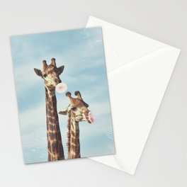 Casual Giraffe Bubblegum  Stationery Cards