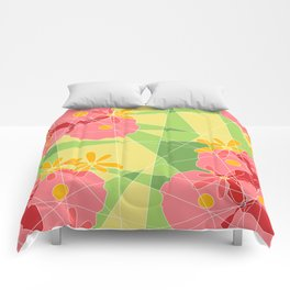 Floral Cubed Comforters