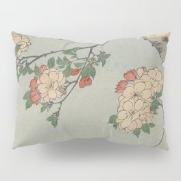 Cherry Blossoms on Spring River Ukiyo-e Japanese Art Pillow Sham