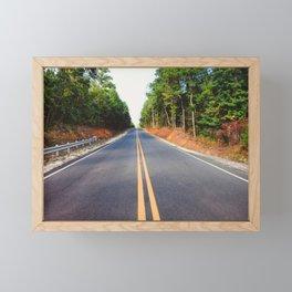 Empty road Framed Mini Art Print