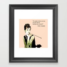 MISS GLOLIGHTLY - Breakfast at Tiffany´s - QUOTE Framed Art Print