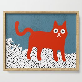 Little Red Cat Serving Tray
